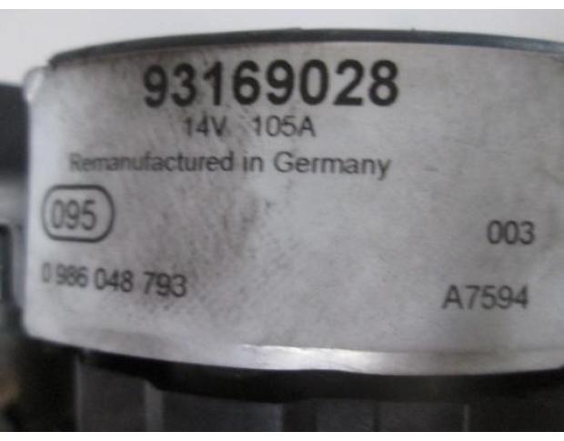 alternator opel vectra c 1.9cdti 0986048793