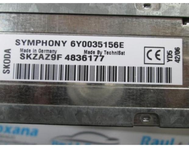 cd audio skoda fabia 1.4 16v bbz 6y0035156e